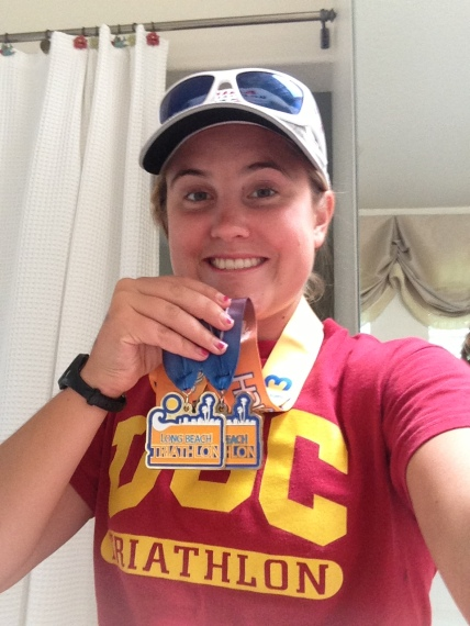 Post-race hardware selfie. Because these things are necessary.